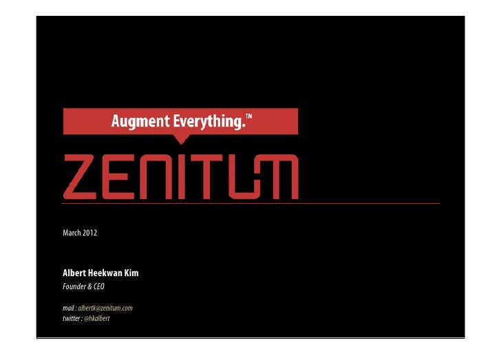 Future of Mobile Augmented Reality (Zenitum's View Point)