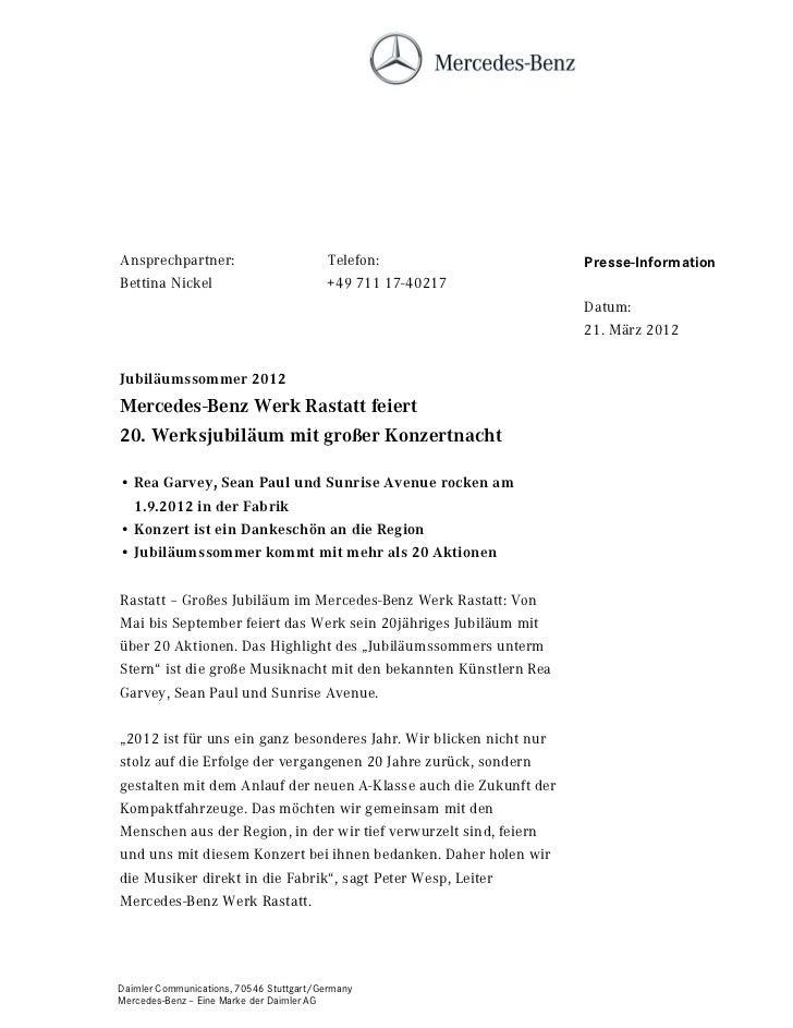 Ansprechpartner:                          Telefon:                  Presse-InformationBettina Nickel                      ...