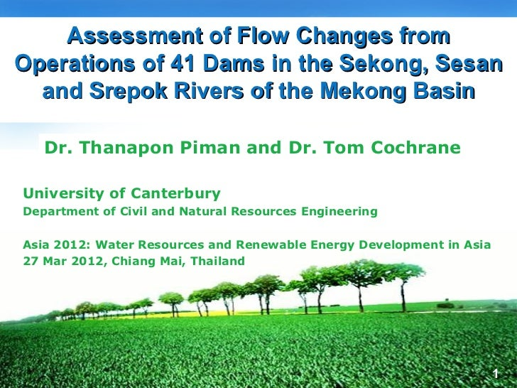 Flow changes in the 3S basin of the Mekong