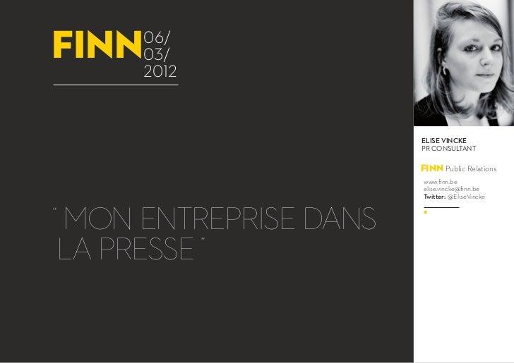 Webinar 'Mon entreprise dans la presse'