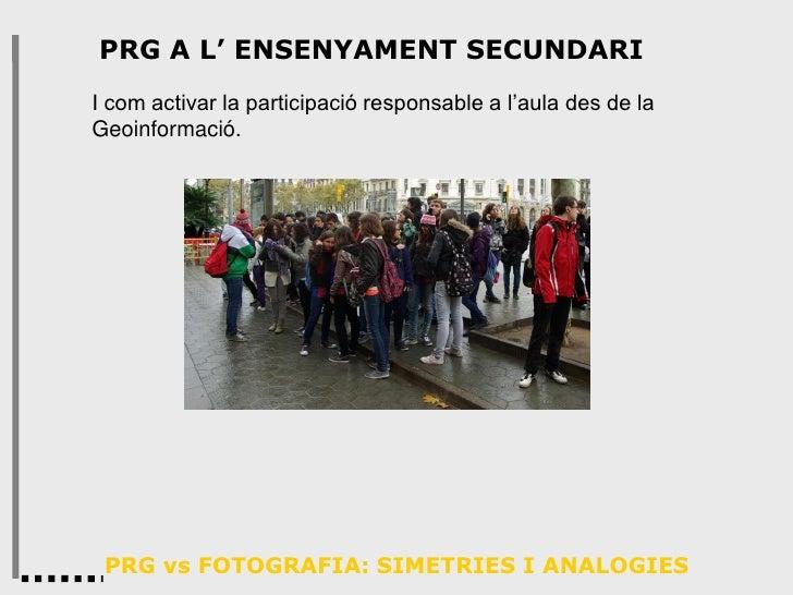 Aplicacions de la PRG en ensenyament