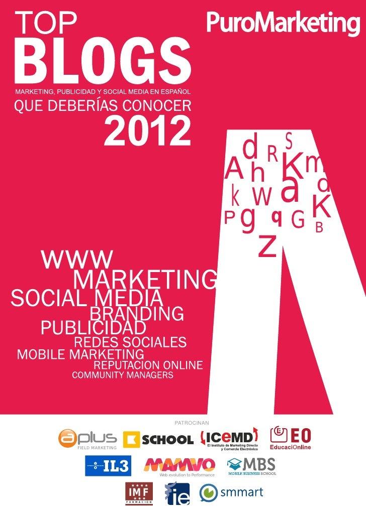 Top Blogs de Marketing en español 2012