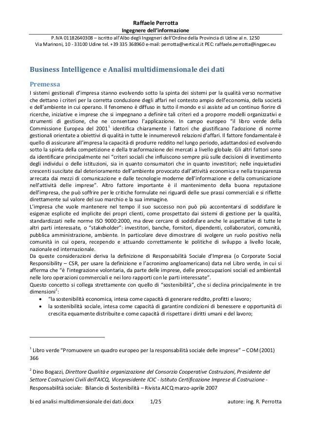 20120419   business intelligence ed analisi multidimensionale dei dati