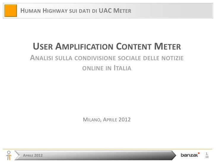 20120422 analisi sulla condivisione sociale delle notizie online in italia