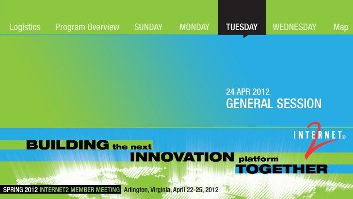 Internet2 Member Meeting 20120424 general session transformation