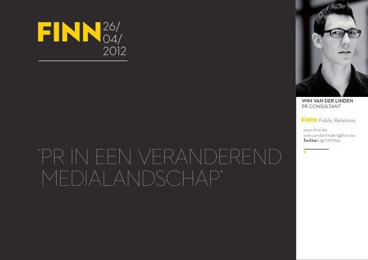 FINN Webinar 26.04.2012: PR in veranderend medialandschap
