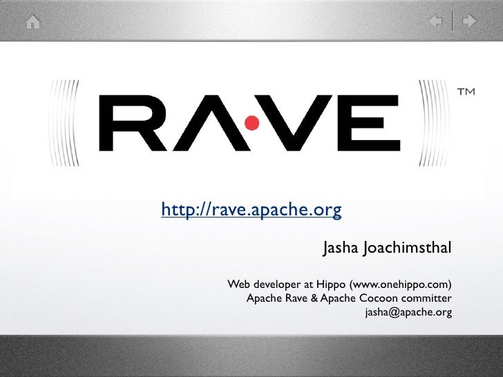 Apache Rave at The Apache Meetup in NL