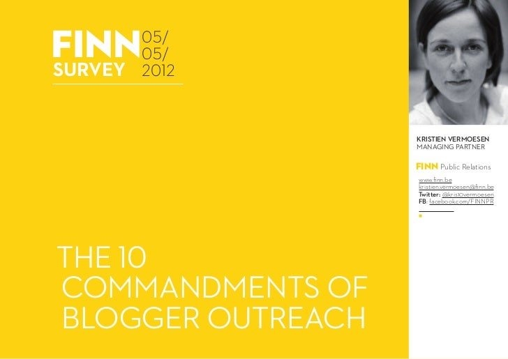 The Ten Commandments of Blogger Outreach
