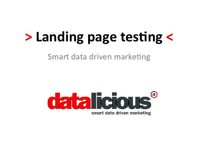 SMX Landing Page Optimization