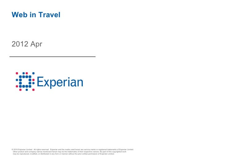 Experian Hitwise Travel Data - April 2012