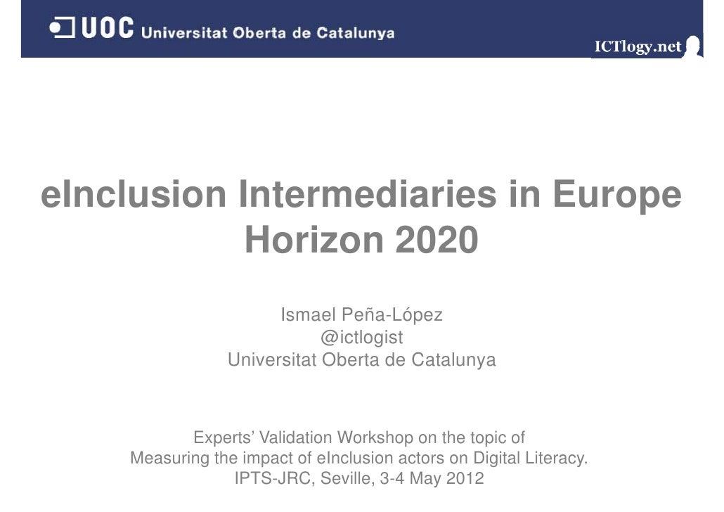 eInclusion Intermediaries in Europe: Horizon 2020