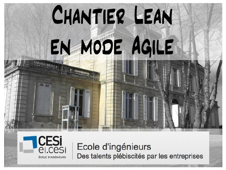 Chantier Lean           en mode Agile04/05/12                   1
