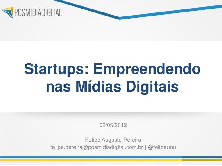Startups - Empreendendo nas Mídias Digitais