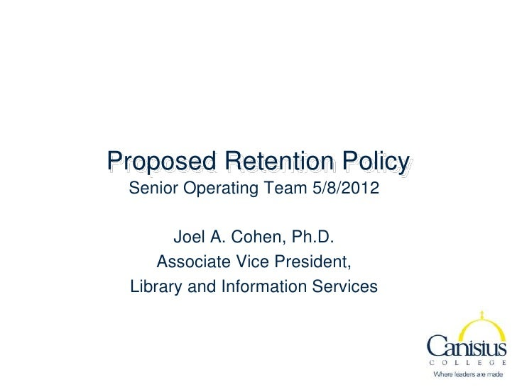 2012 05 08 proposed retention policy