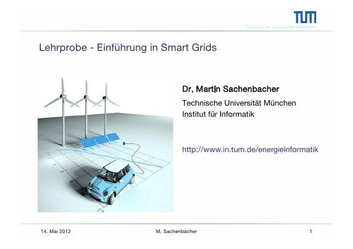 Einführung in Smart Grids