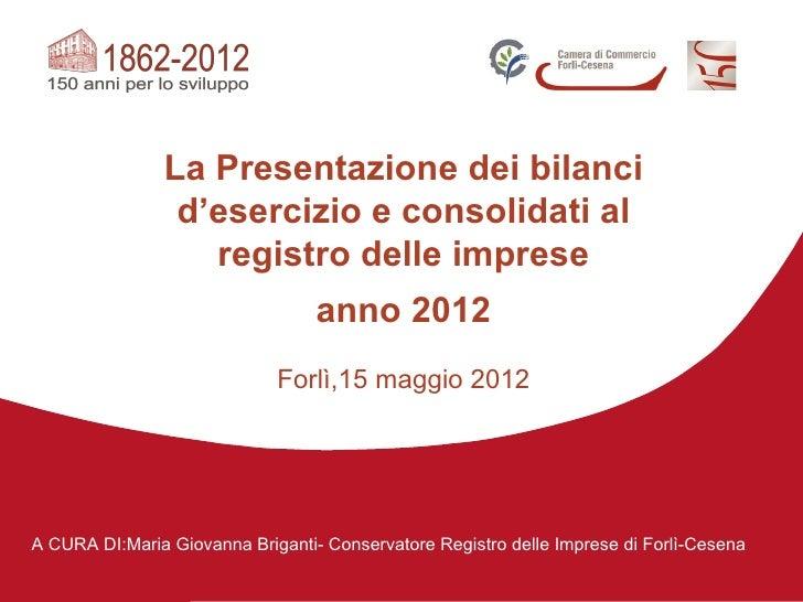 15/05/2012 bilanci d esercizio e consolidati