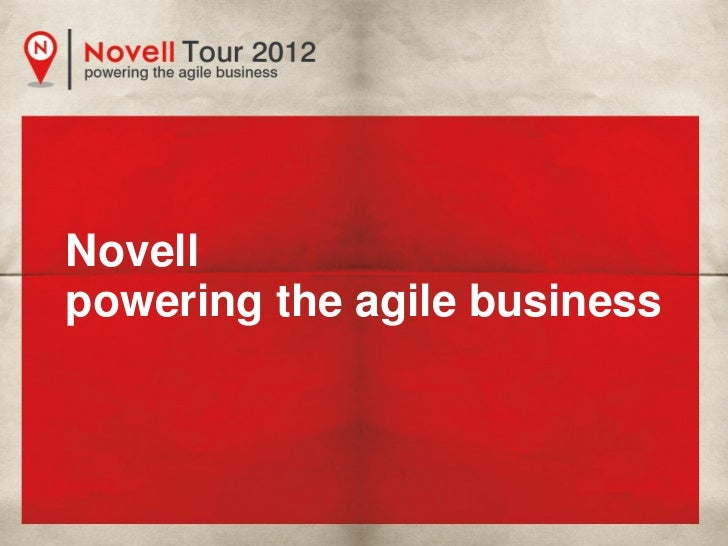 Novellpowering the agile business