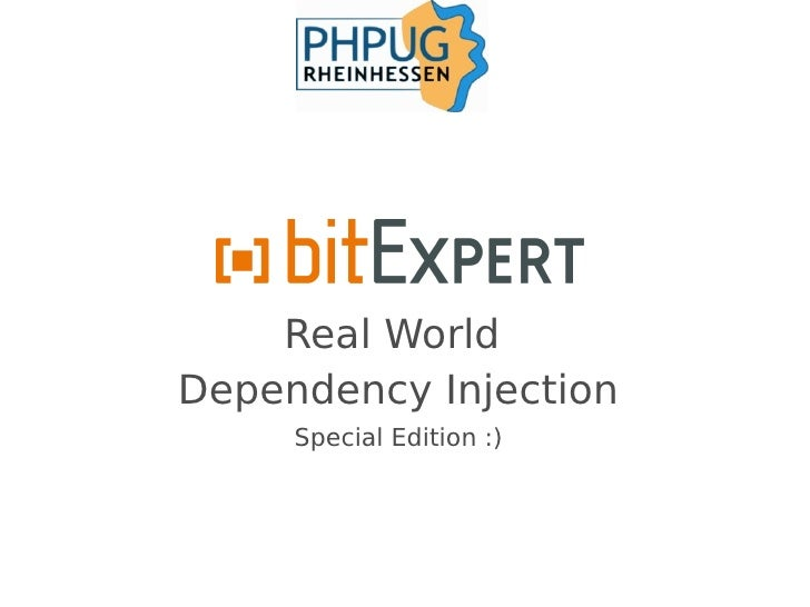 Real World Dependency Injection SE - phpugrhh