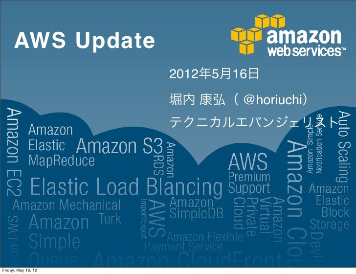 AWS Update 第6回 JAWS-UG Sapporo