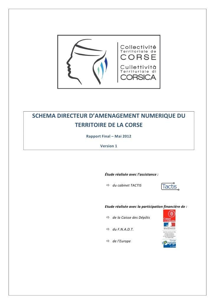 SDTAN  de Corse - rapport final
