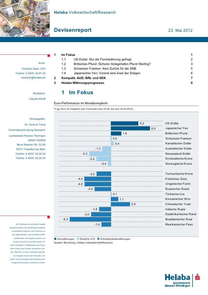 Helaba Volkswirtschaft/Research                                                   Devisenreport                           ...