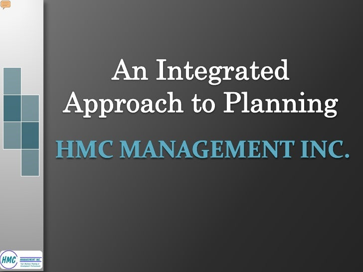  About HMC Management Inc Overview of Planning Our Integrated Planning Model (IPM) Closing Remarks Questions         ...