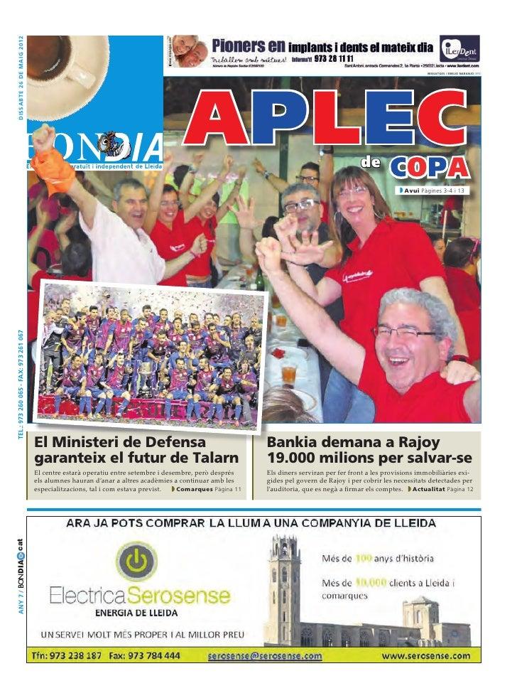 dissabte 26 DE maig 2012                                                                                      APLEC       ...