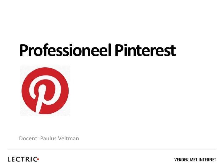 20120531 Professioneel Pinterest - LECTRIC Ontbijtsessie