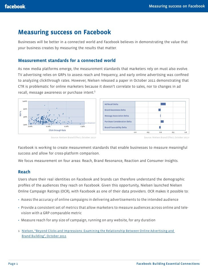 Measuring success on Facebook         Measuring success on Facebook         Businesses will be better in a connected world...