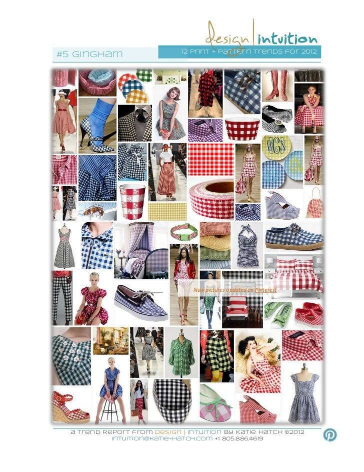 12 print + pattern trends for 2012#5 gingham                                  New pictures updated on Pinterest  a Trend R...