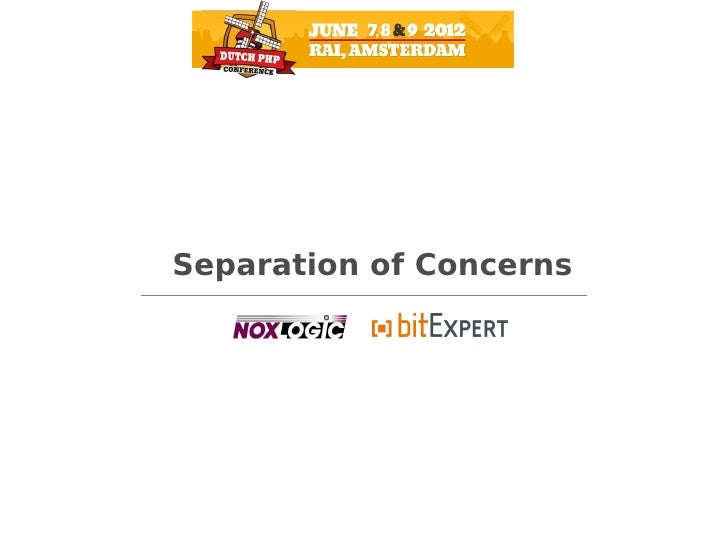 Separation of concerns - DPC12