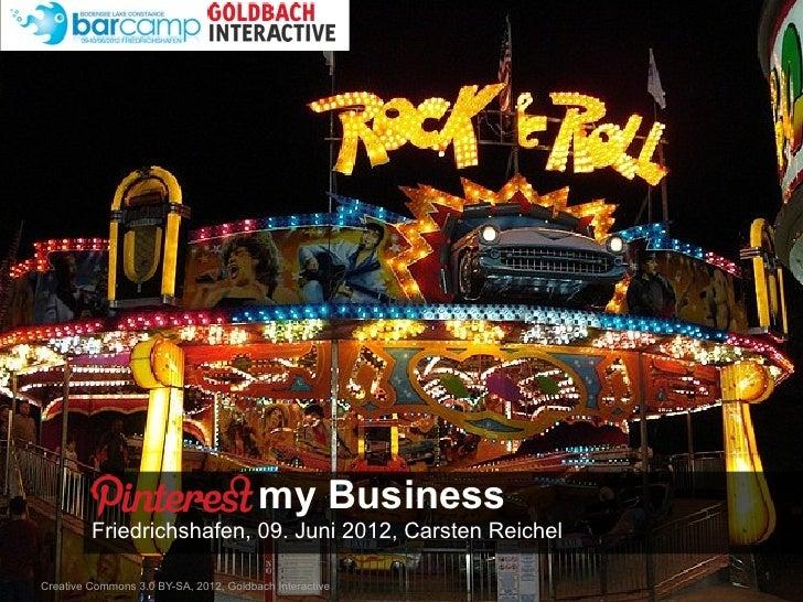 Text                                        my Business         Friedrichshafen, 09. Juni 2012, Carsten Reichel           ...