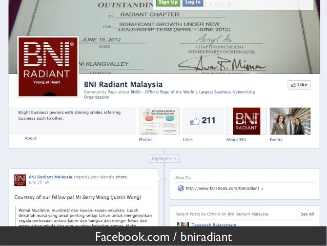 Facebook.com / bniradiant