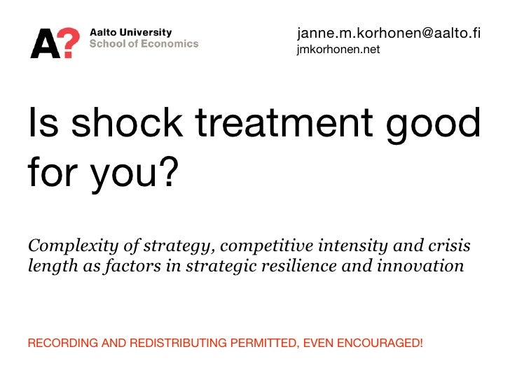 Is shock treatment good for you?