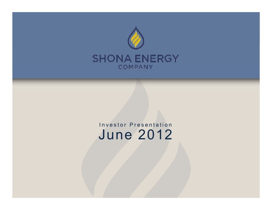investor presentation - june 2012