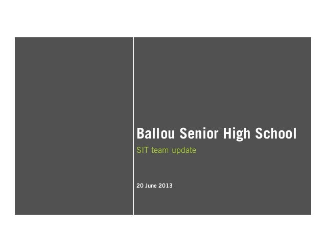Ballou Senior High School SIT team update 20 June 2013