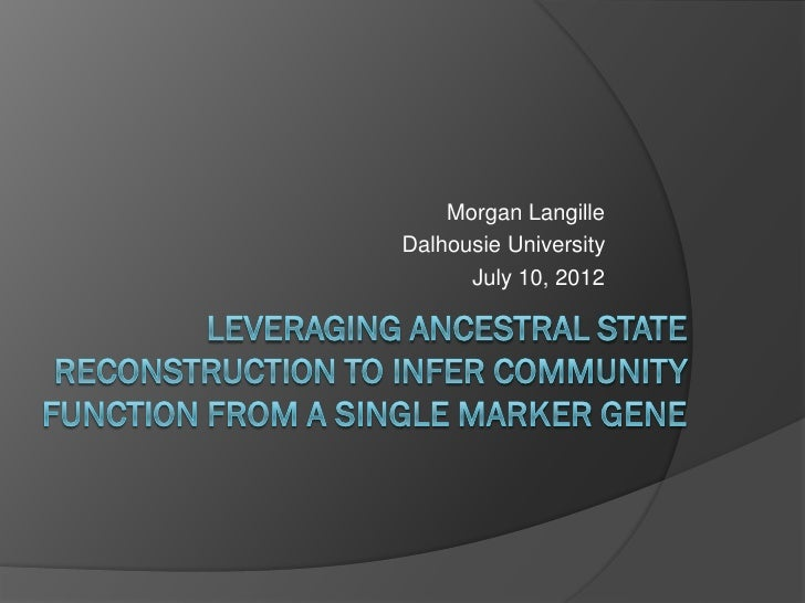 Morgan LangilleDalhousie University      July 10, 2012