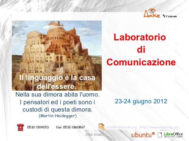 Laboratorio di Comunicazione