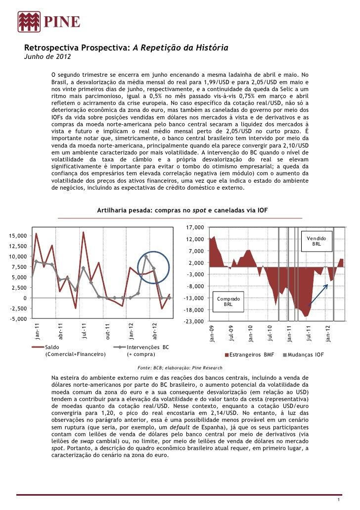 Retrospectiva Prospectiva: A Repetição da História     Junho de 2012                    O segundo trimestre se encerra em ...