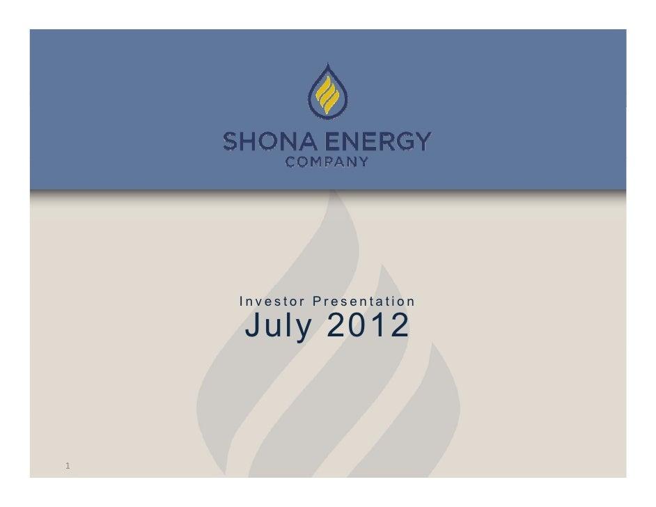 Investor Presentation    July 20121