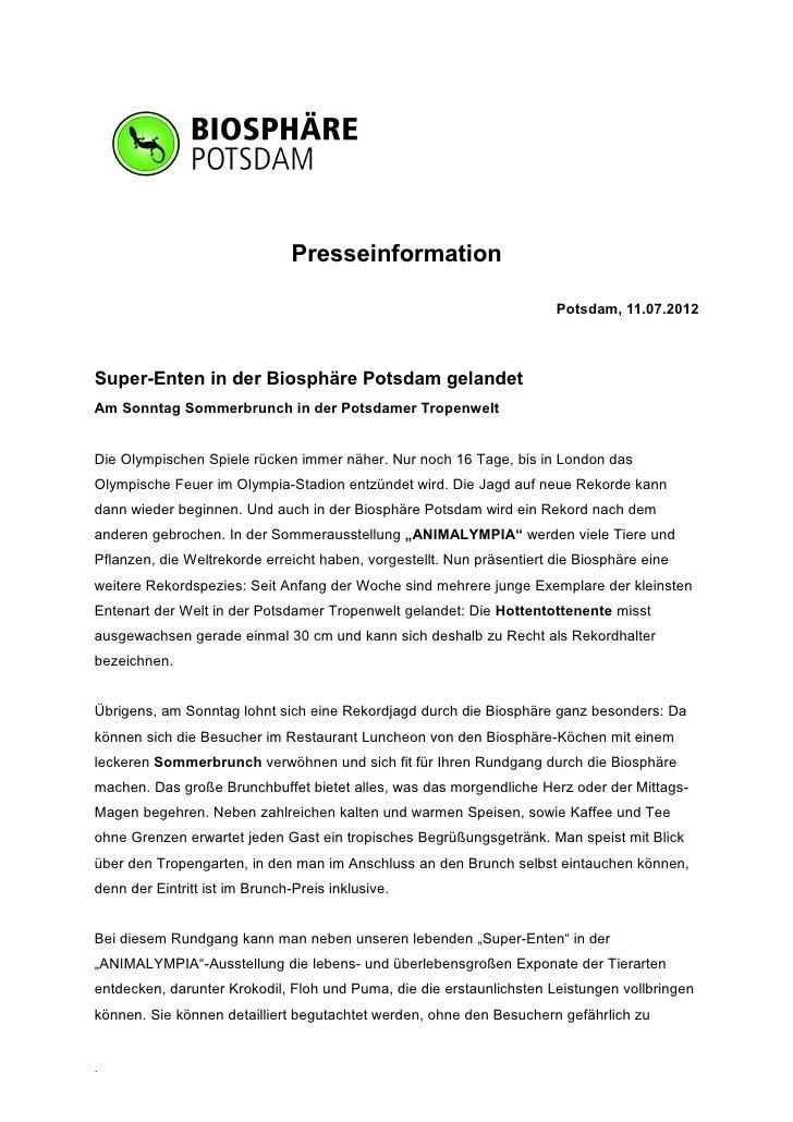 Presseinformation                                                                       Potsdam, 11.07.2012Super-Enten in ...
