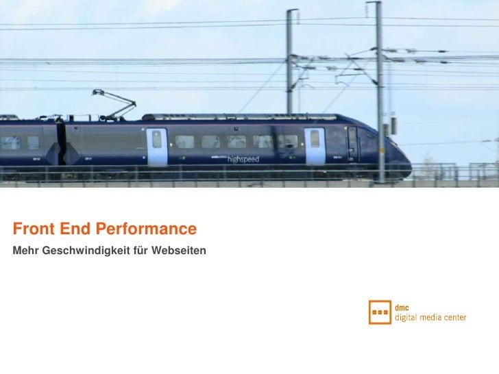 Front End PerformanceMehr Geschwindigkeit für Webseiten