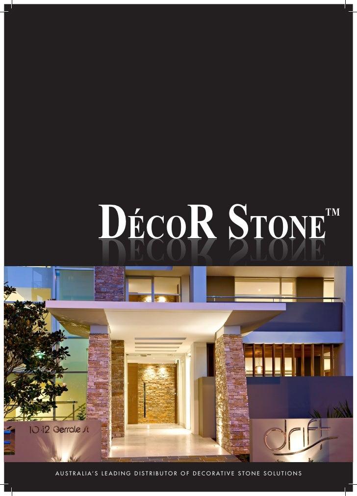 Decor stone brochure for Tile decor international pvt ltd