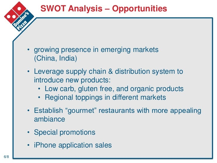 dominos pizza swot analysis What is a swot analysis it is a way of evaluating the strengths, weaknesses, opportunities, and threats that affect something see wikiwealth's swot tutorial for help.