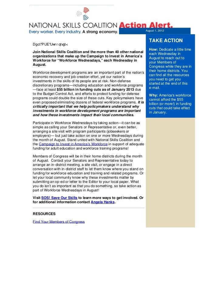 From:              Rachel Gragg, Federal Policy DirectorTo:                Jennifer GableSubject:           Workforce Wedn...
