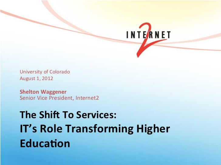 The Shift To Services: IT's Role Transforming Higher Education