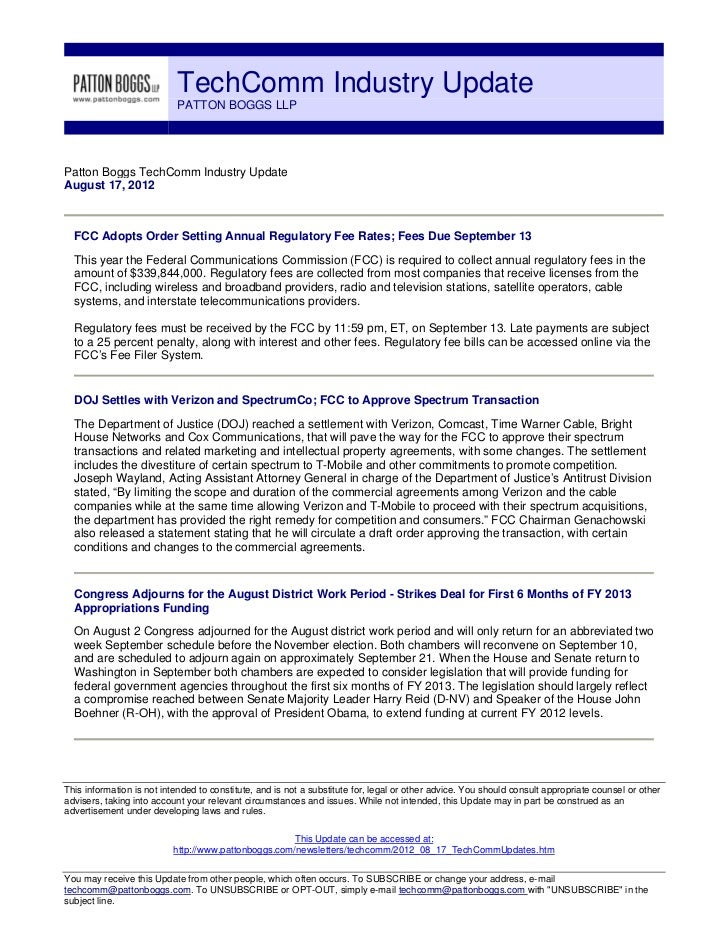 TechComm Industry Update - August 17, 2012