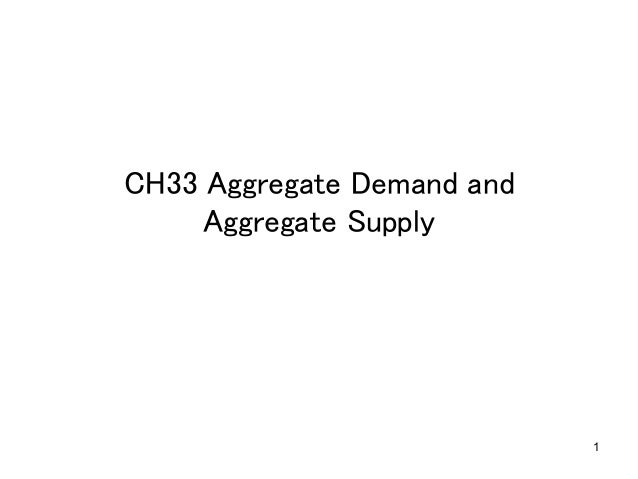1 CH33 Aggregate Demand and Aggregate Supply