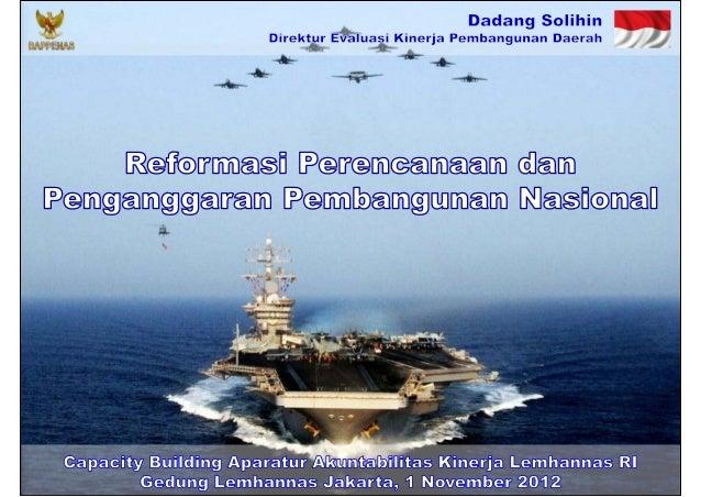 Reformasi Perencanaan dan Penganggaran Pembangunan Nasional