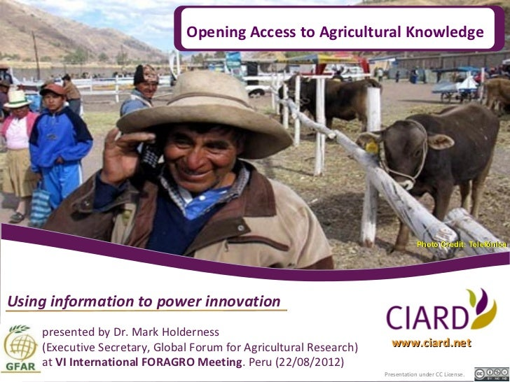 Opening Access to Agricultural Knowledge                                                                                Ph...